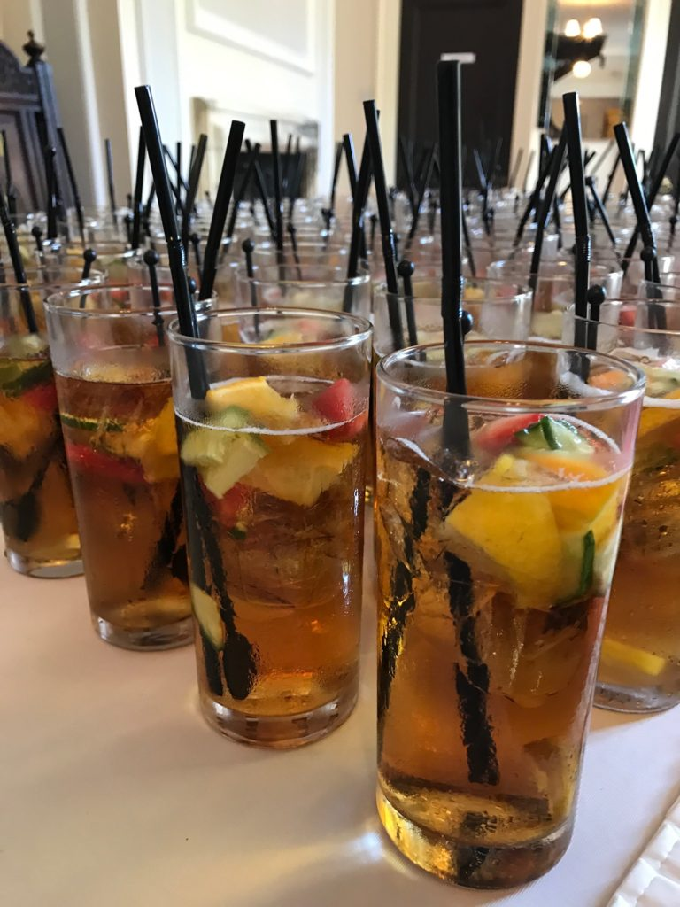Pimms welcome drink