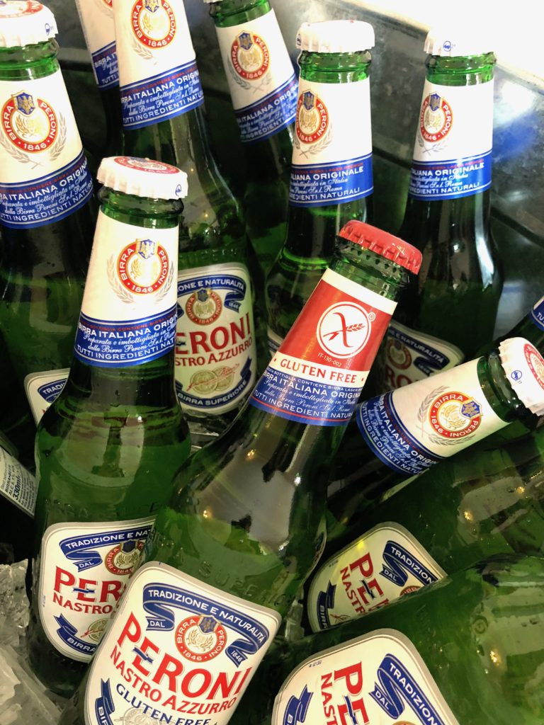 Peroni welcome drinks